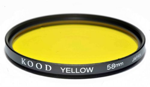 Kood High Quality Optical Glass Yellow Filter Made in Japan 58mm